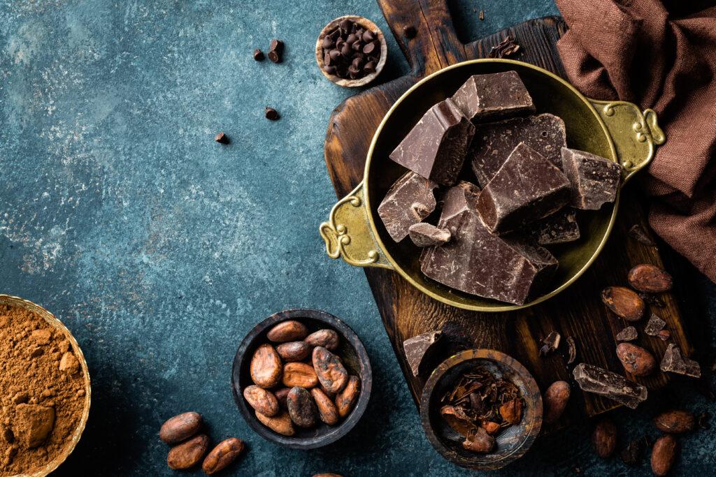 Schokolade aus Kakaobohnen